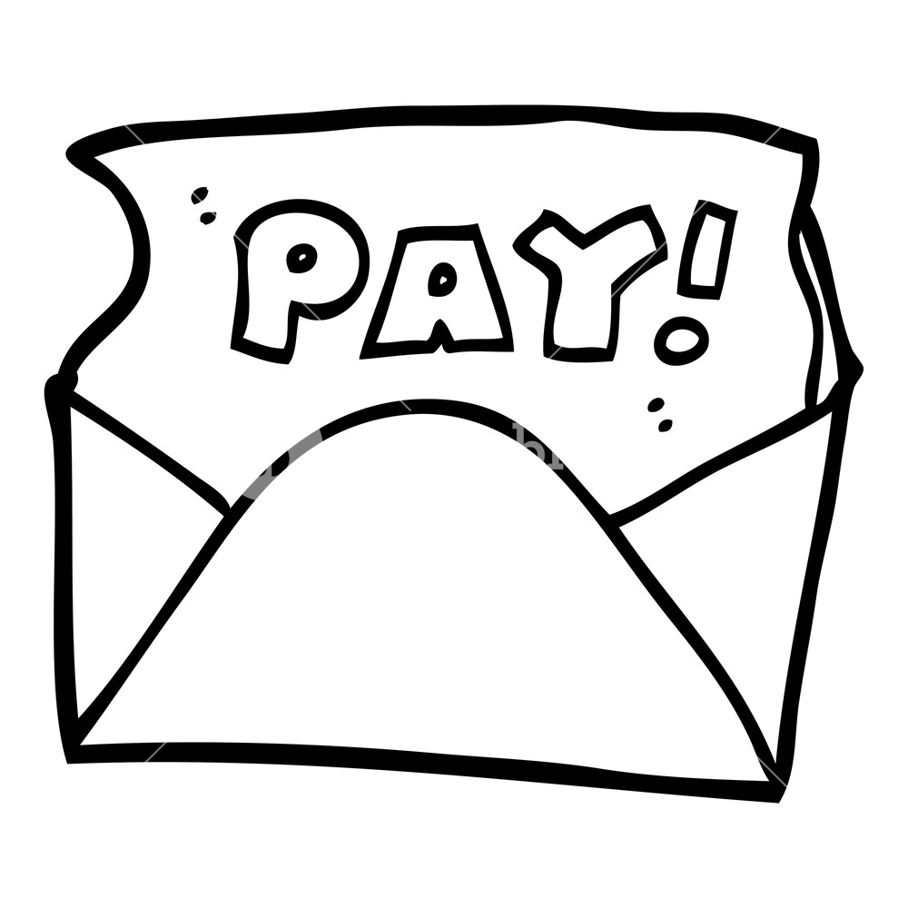 1000x1000 Black And White Cartoon Pay Packet Royalty Free Stock Image