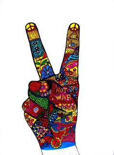 Peace And Love Drawings