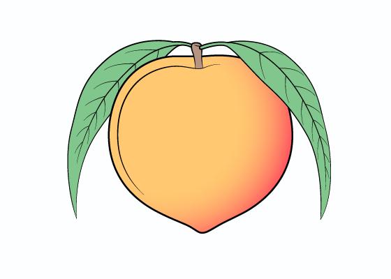 560x400 How To Draw A Peach Step