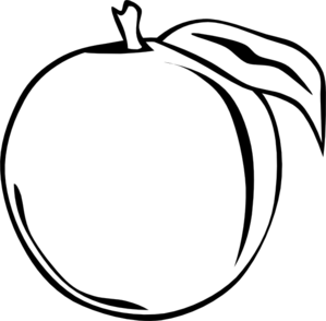 299x294 Peach Clip Art Clip Art