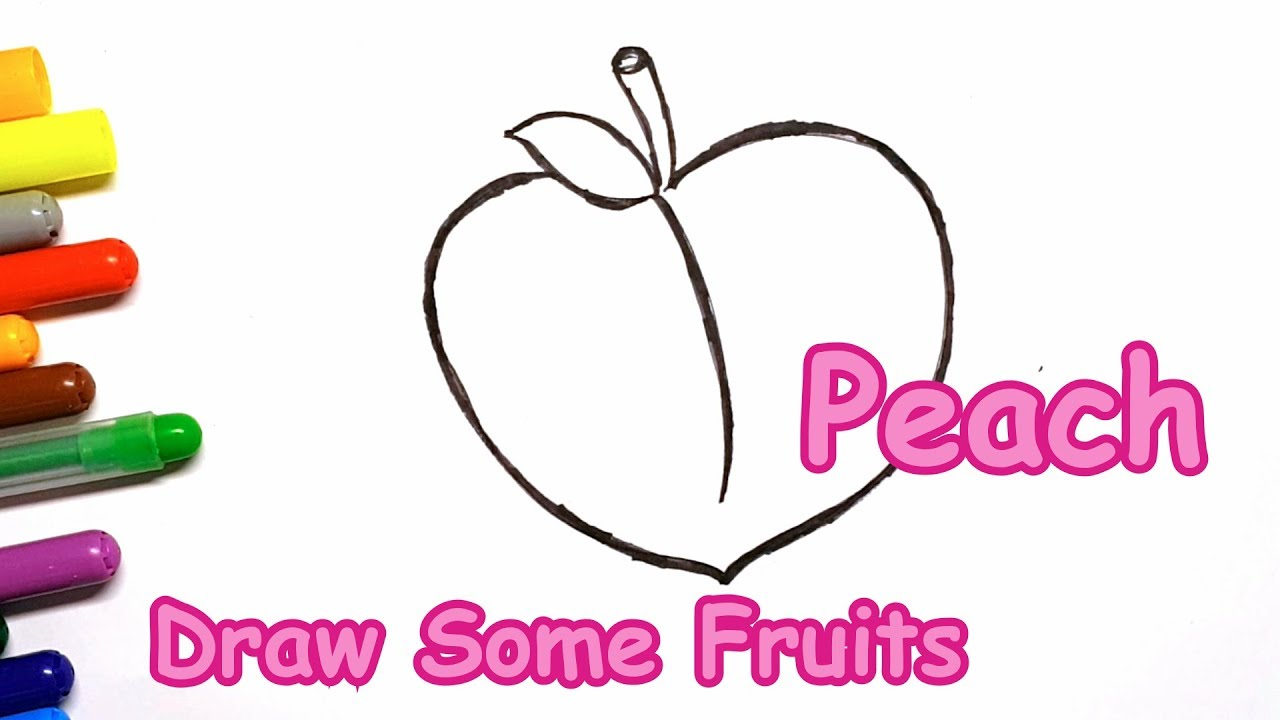 1280x720 Pink Peach Drawing How To Draw And Color Fruit