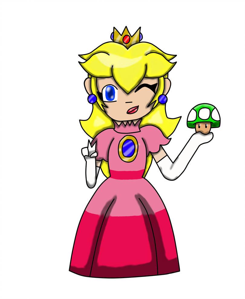 810x987 Princess Peach Drawing