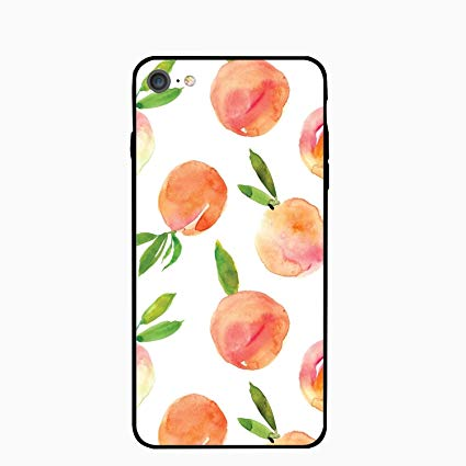 425x425 Iphone Plus Case,personalized Peach Drawing