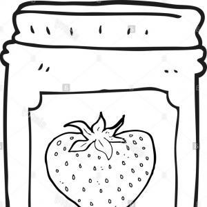 300x300 Stock Illustration Cartoon Peanut Butter Jelly Jars Illustration