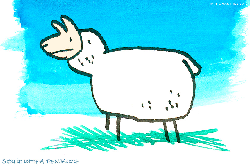 840x560 How To Ride A Sheep The Squid With A Pen