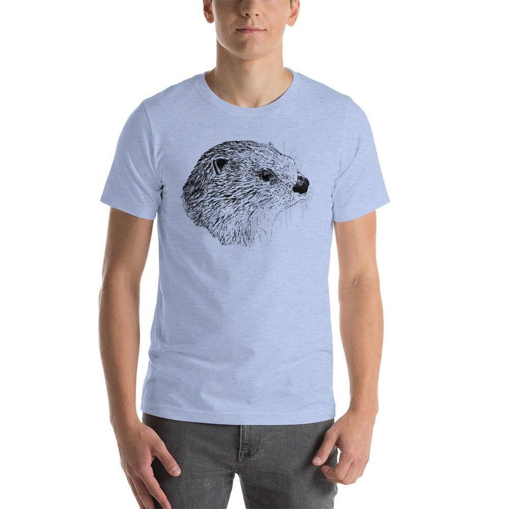 1000x1000 Pen Ink River Otter Head Unisex T Shirt Otter