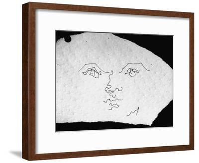 400x329 Pen And Ink Drawing Of Face, Doodled On Napkin In Restuarant