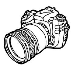 240x240 retro camera and polaroid sketch vector