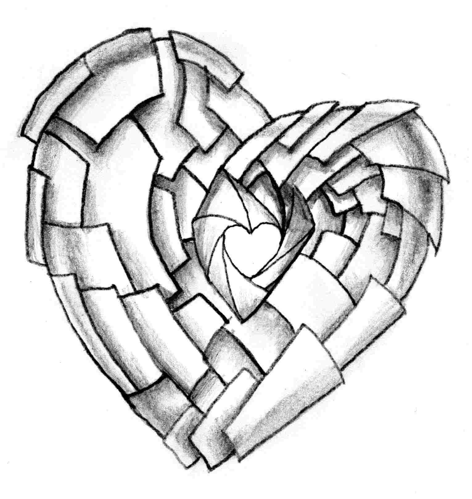 1531x1618 Simple Pencil Drawing Images Of Heart