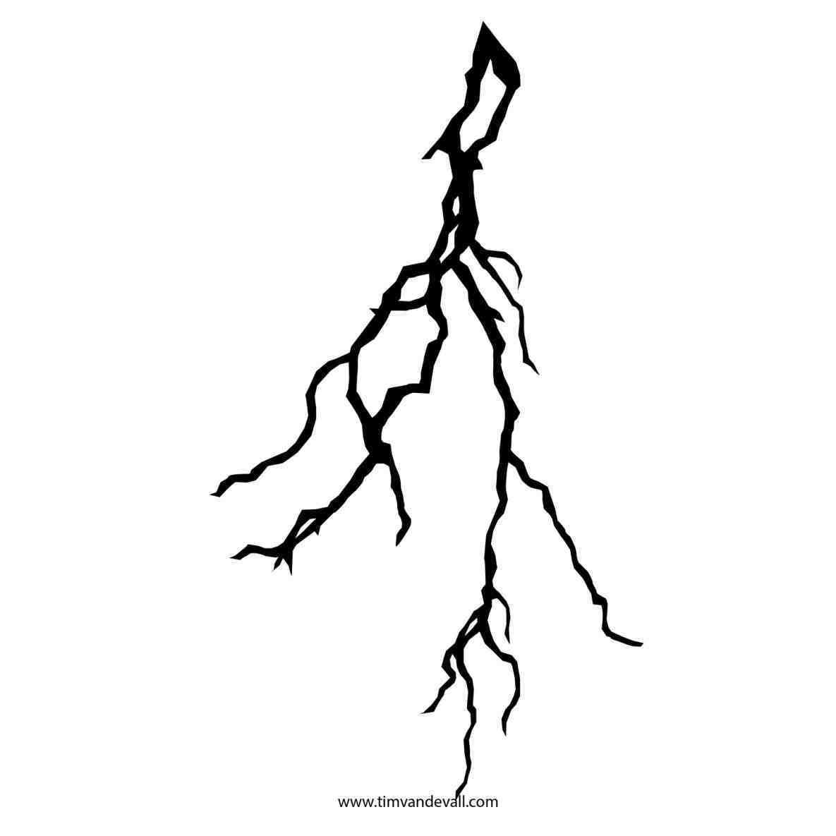 1185x1185 Thunderstorm Lighting Strikes Drawing Clipart Kaboom Pencil