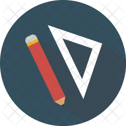 256x256 Draw, Drawing, Edit, Editor, Graphic, Pencil Icon Of Flat Style