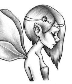 Pencil Drawing Fairies