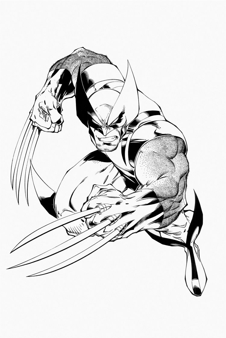 750x1119 free printable wolverine coloring pages for kids wolverine