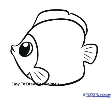 390x342 sea animals to draw easy sea creatures to draw sea animals