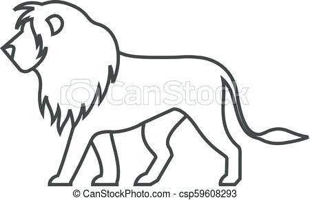450x291 lion outline lion outline logo vector lion pencil drawing outline