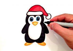 300x210 how to draw a easy penguin penguin drawing easy cute penguin