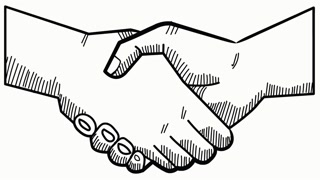 320x180 Hand Shake Hand Drawn Icon Animation With Transparent Background