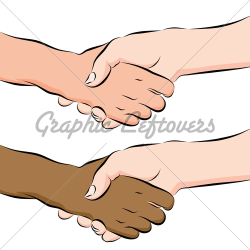 500x500 People Shaking Hands Line Drawing Gl Stock Images