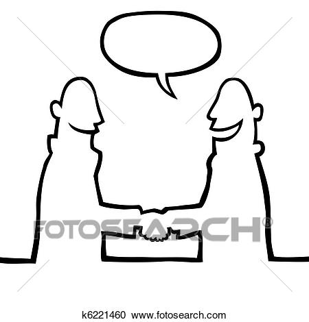 450x470 Two People Shaking Hands Drawing