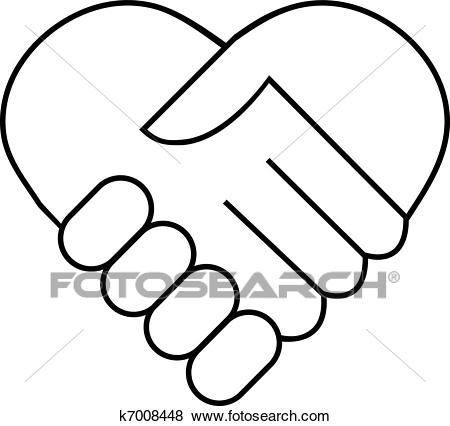 450x426 Shaking Hands Drawing