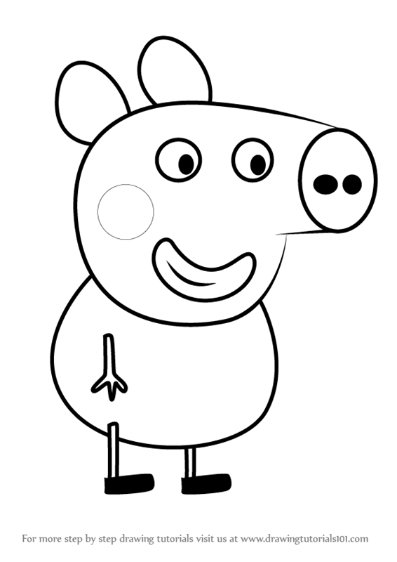 566x800 Learn How To Draw Alexander Pig From Peppa Pig