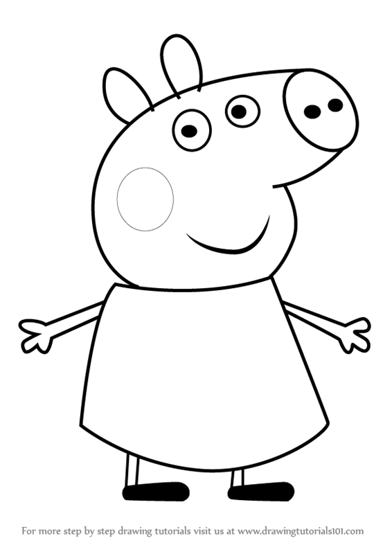566x800 Learn How To Draw Percival Pig From Peppa Pig