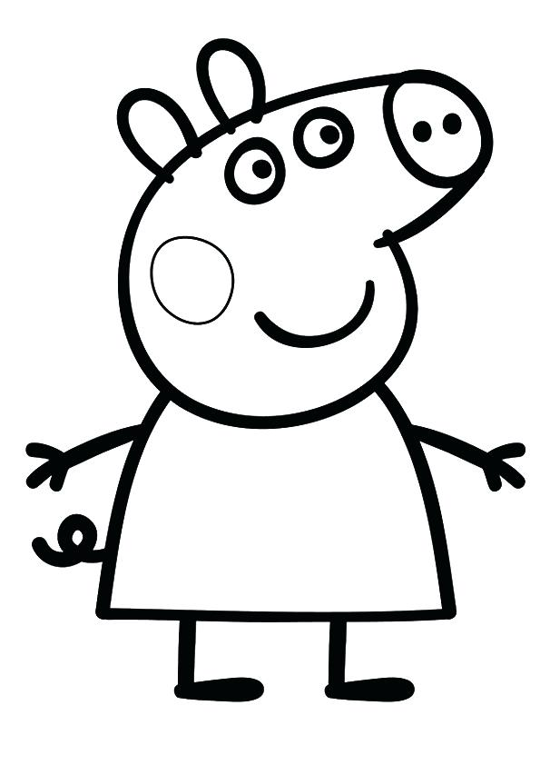595x842 Peppa Pig Coloring Pages Free Coloring Pages Printable Pictures