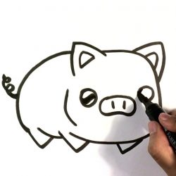 250x250 Pig Drawing Tutorial Peppa Easy Pencil Flying And Painting Guinea