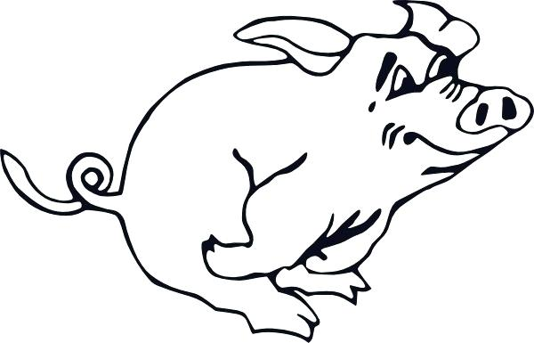 600x385 Pig Outline Outline Running Pig Clip Art Peppa Pig Outline Images