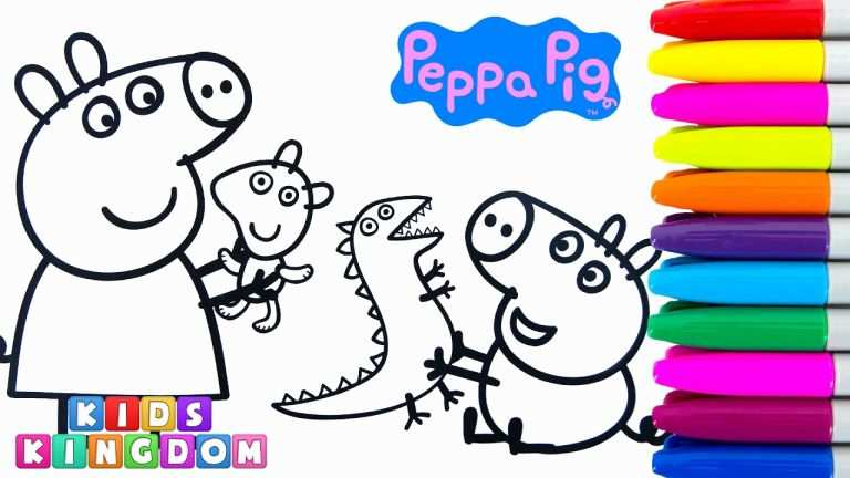 768x432 Video Di Peppa Pig Ispiratore Peppa Pig Movie Coloring Book Pages