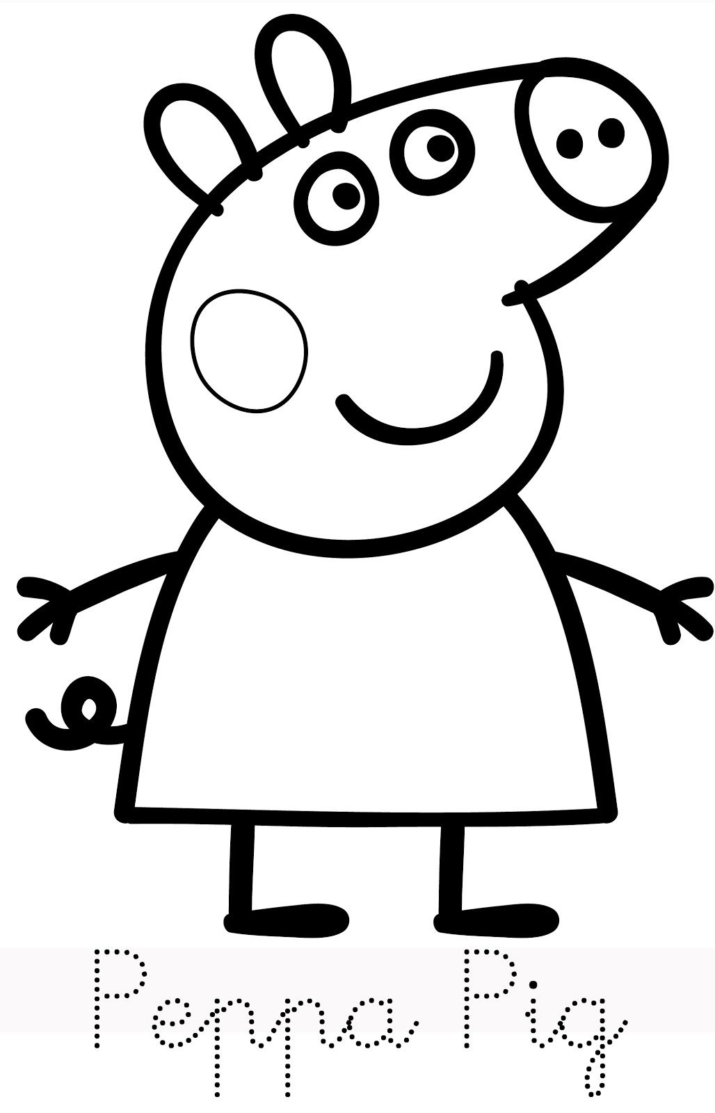 1028x1600 Peppa Pig Drawing