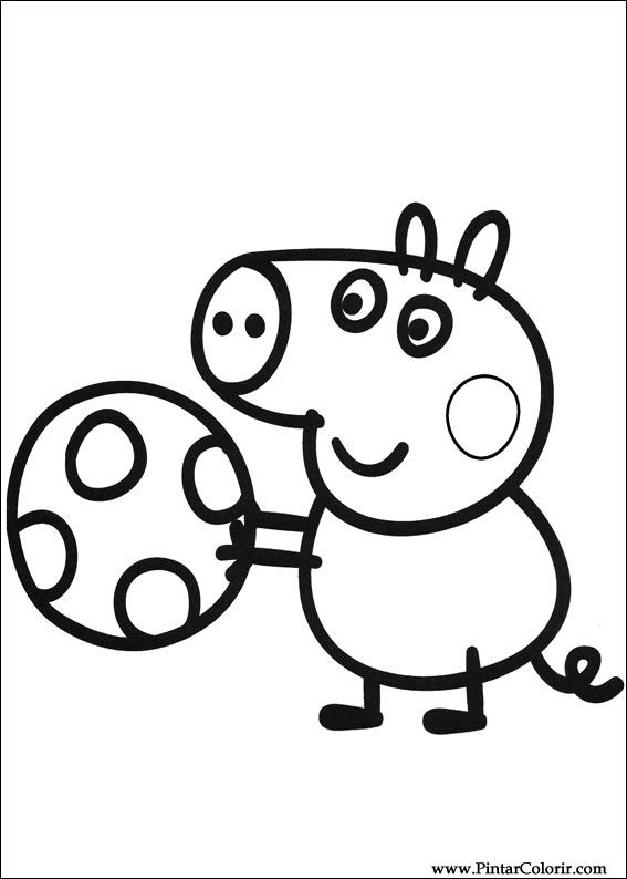 567x794 Drawings To Paint Colour Peppa Pig