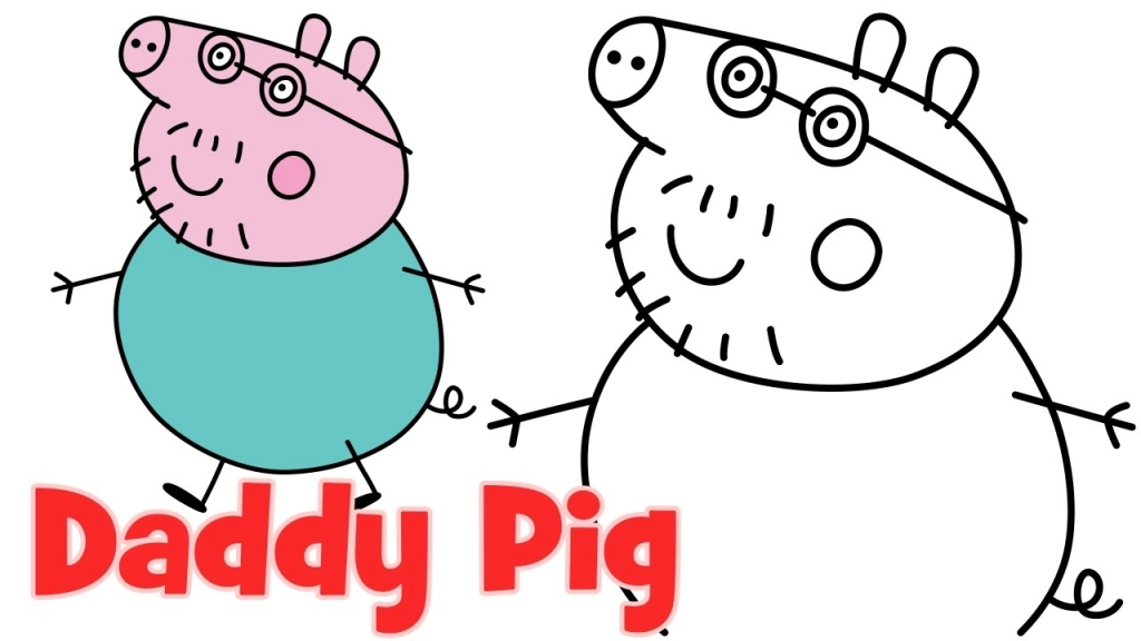 1024x576 How To Draw Peppa Pig And Friends Free