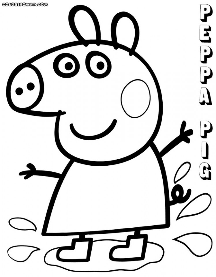 749x960 peppa pig coloring sheets unique collection of peppa pig