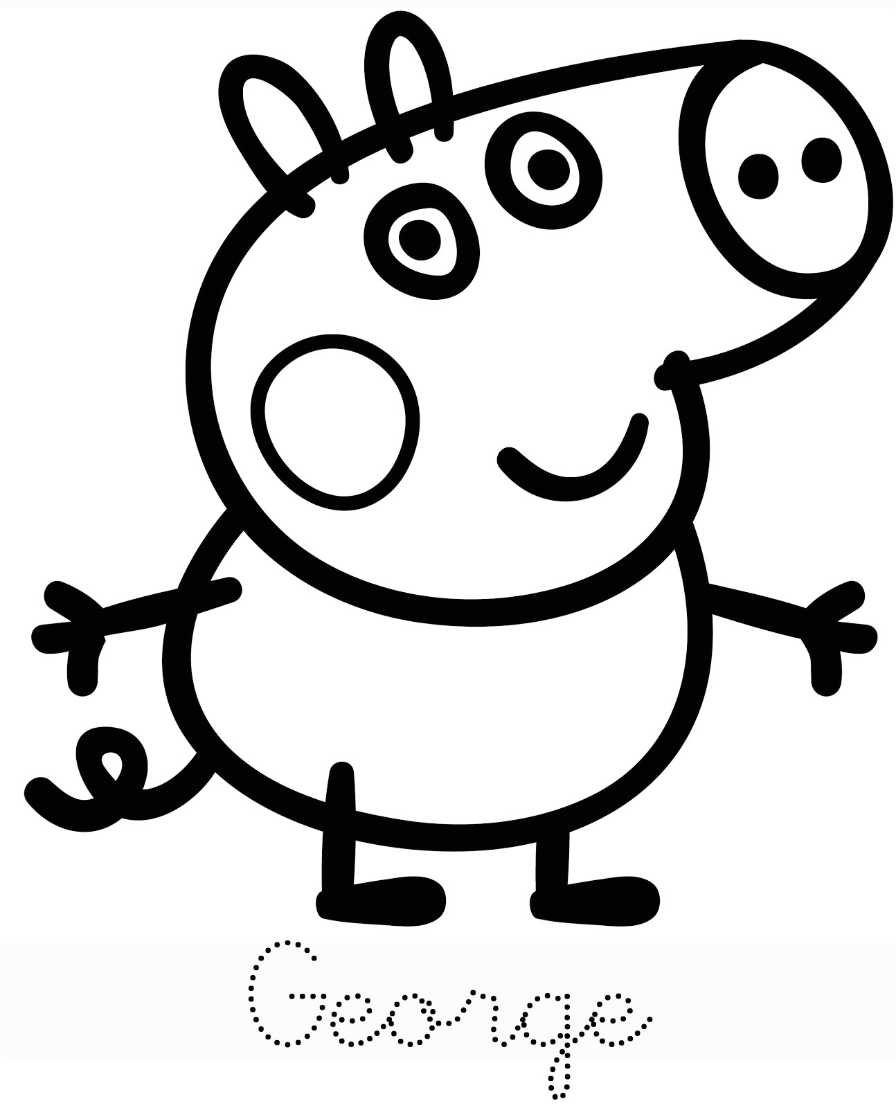 1294x1600 peppa pig drawing templates baby potatoes family of peppa pig