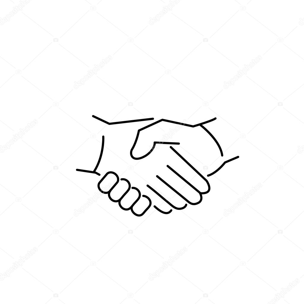 1024x1024 Handshake Drawing Perfect For Free Download