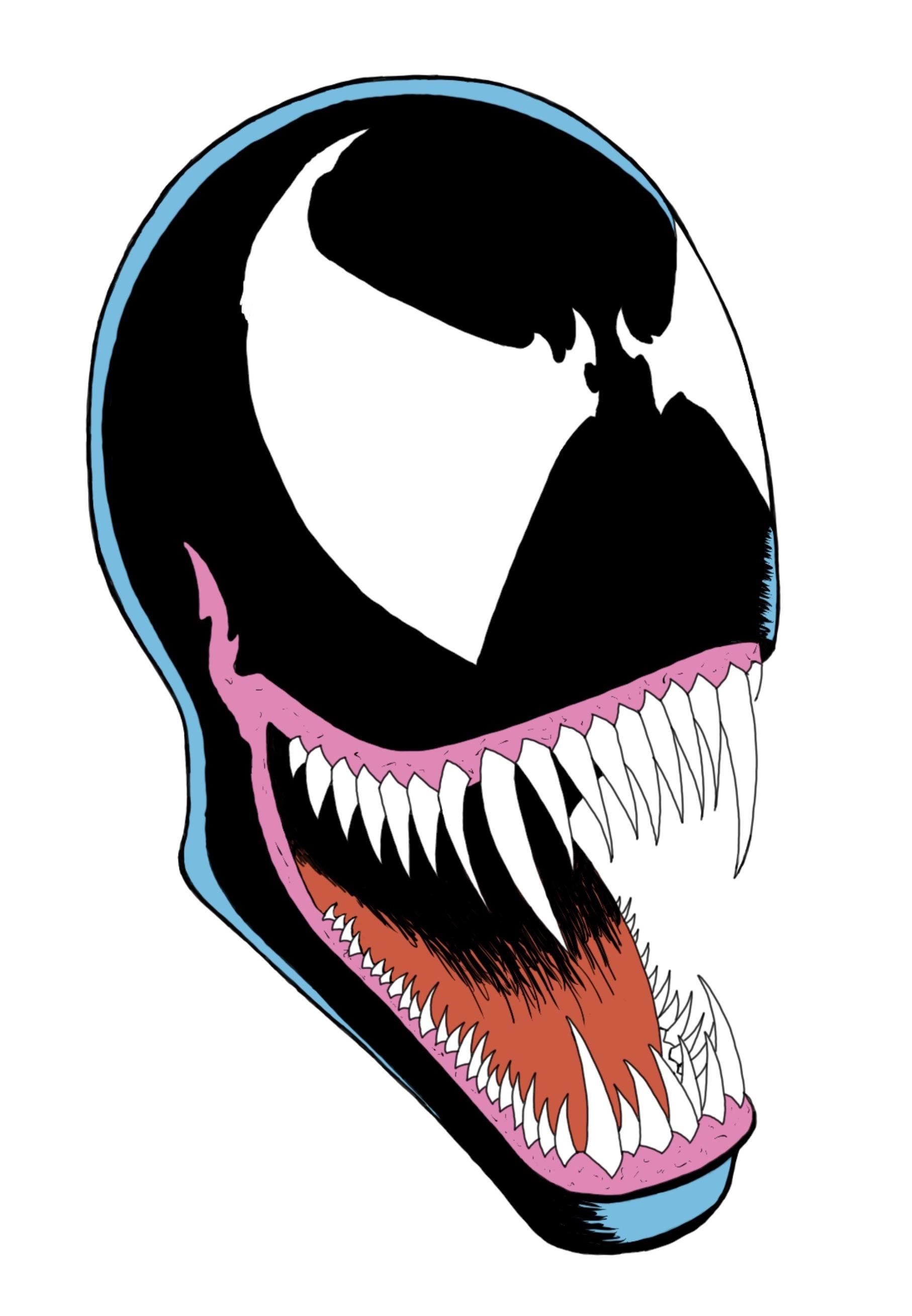 1814x2618 My Drawing Of Venom From The Cover Of Amazing Spider Man Also