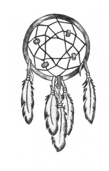 383x600 Easy Dreamcatcher Drawings Perfect Drawing Impressive