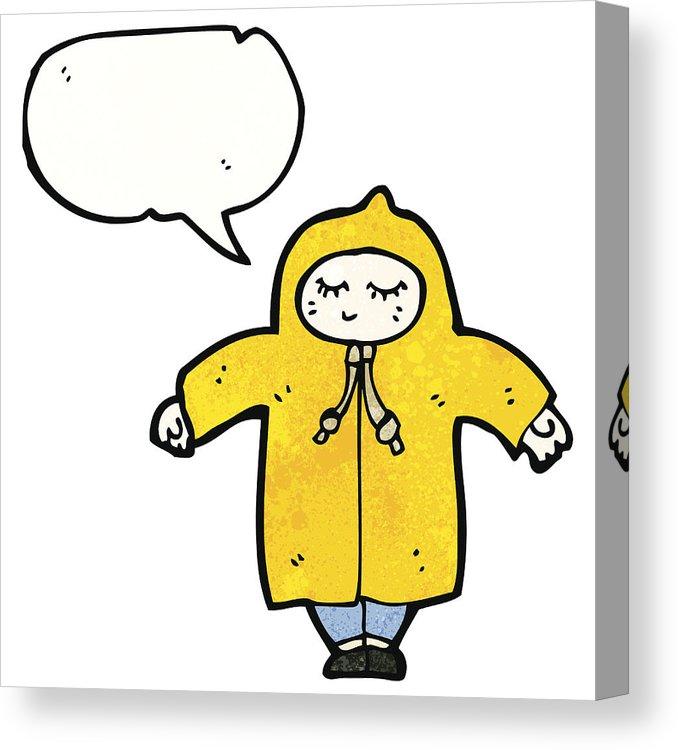 678x750 cartoon person in raincoat canvas print canvas art