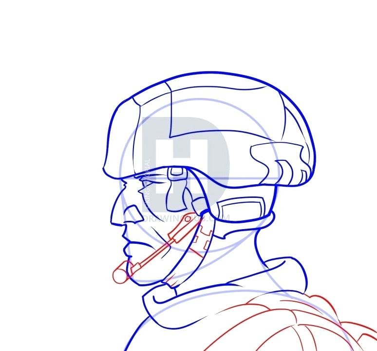 774x720 Draw A Soldier How To Draw Soldier From Guide Step