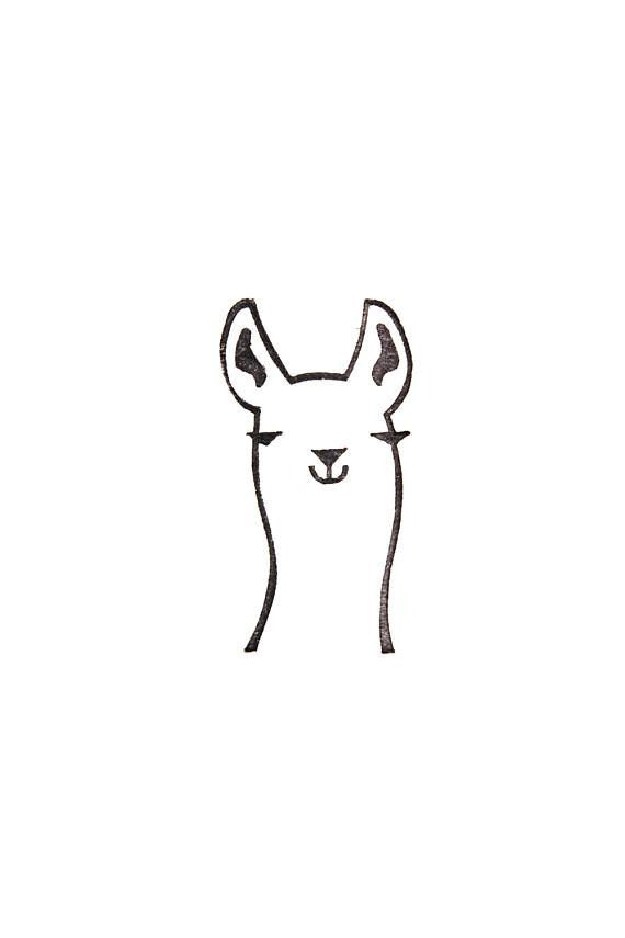 570x855 Llama Stamp Llama Gift Peru Animal Lama Glama Peekaboo