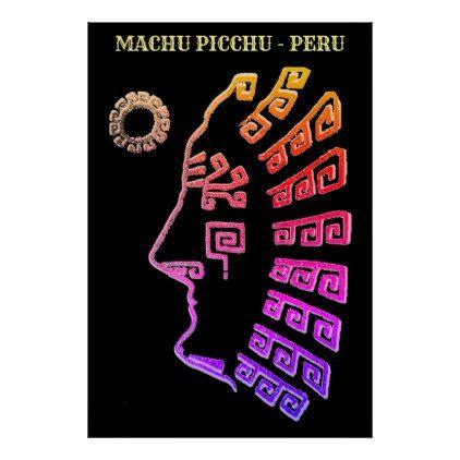 422x422 Machu Picchu Cusco Peru Drawing Poster Elegant