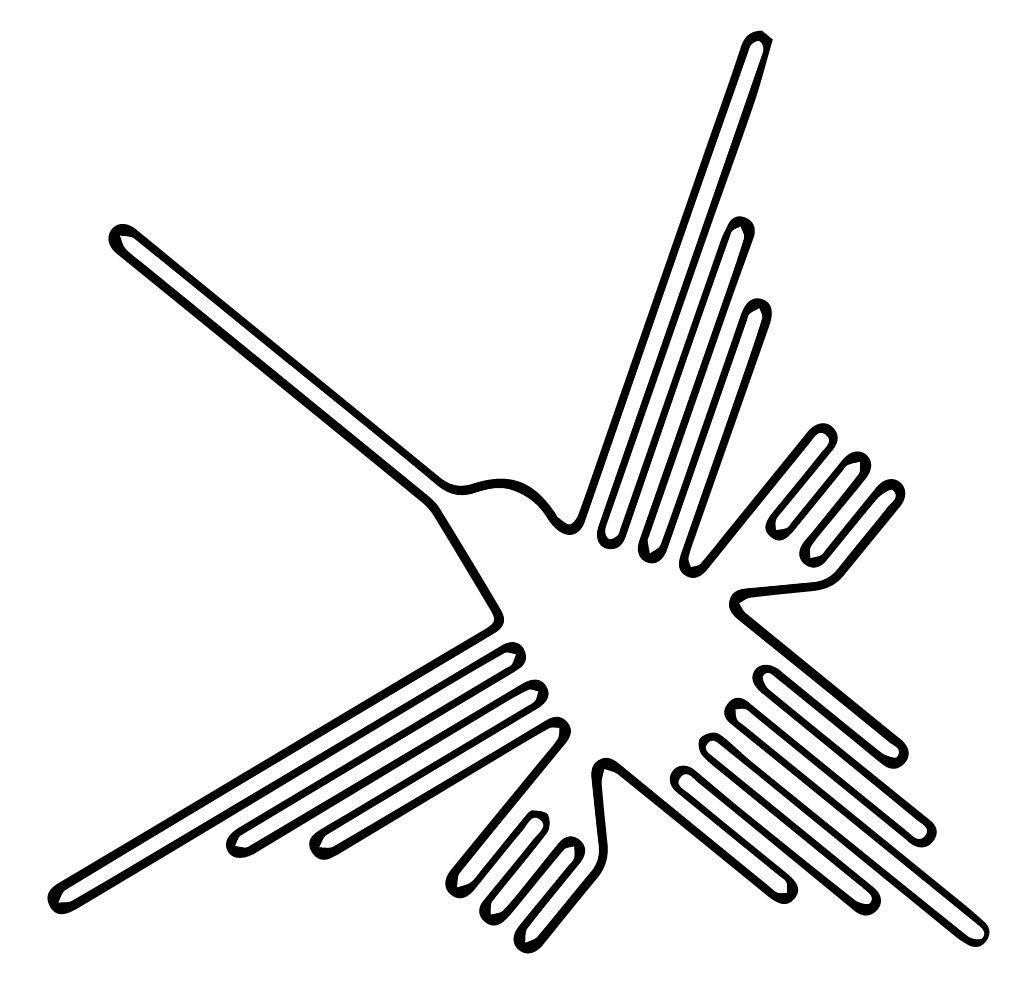1025x983 Nazca Lines Hummingbird Glyph