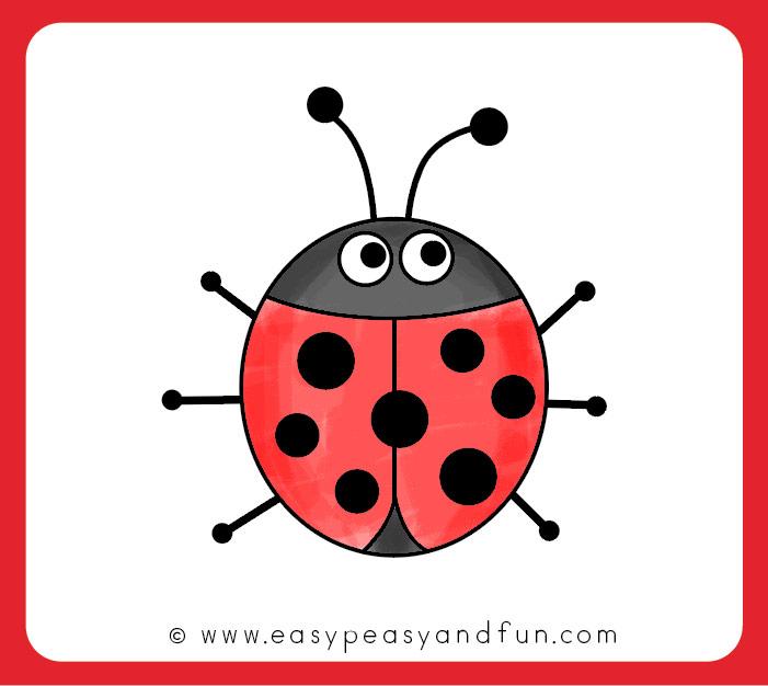 701x626 How To Draw A Ladybug