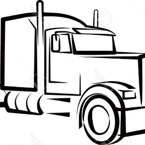 300x300 semi truck outline drawing clipart semi trucks arenawp