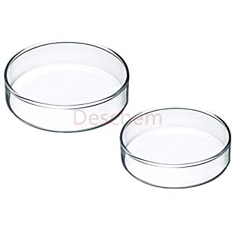 342x342 deschem glass petri dish culture plate wcover lab glassware