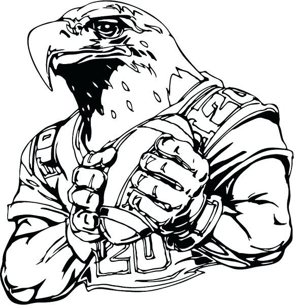579x600 Philadelphia Eagles Mascot Coloring Pages