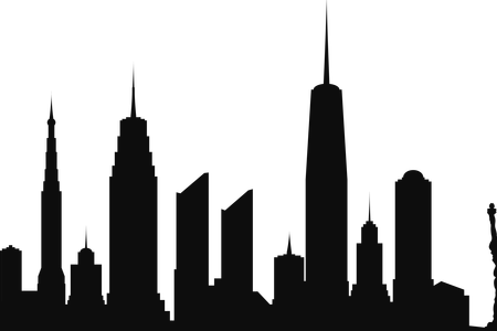 450x300 Collection Of Free Vector Skyline Chicago Download On Ui Ex