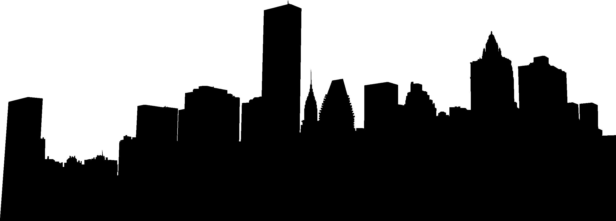 2533x911 Philadelphia Skyline Silhouette Png Images In Collection