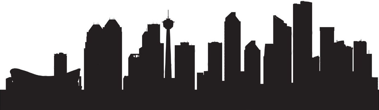 1256x365 Seattle Drawing Skyline Calgary For Free Download